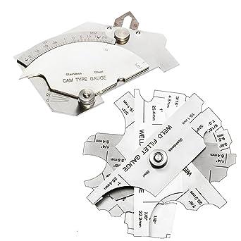 Amazon.com: Necygoo - Juego de medidor de soldadura de acero ...