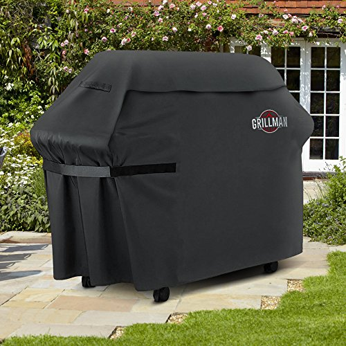 Grillman Premium (58 Inch) BBQ Grill Cover, Heavy-Duty Gas Grill Cover For Weber, Brinkmann, Char Broil etc. Rip-Proof, UV & Water-Resistant