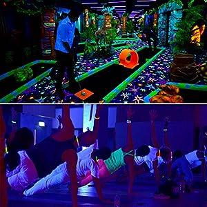 Black Light, YeeSite 36W 12LED UV Bar Glow in the Dark Party Supplies for Birthday Wedding DJ Stage Lighting