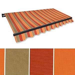 Brazo articulado de toldo (4x 2,5m Marrón de terracota (Perfil Color: antracita) Protección Solar aluminio sombra Toldo Toldo