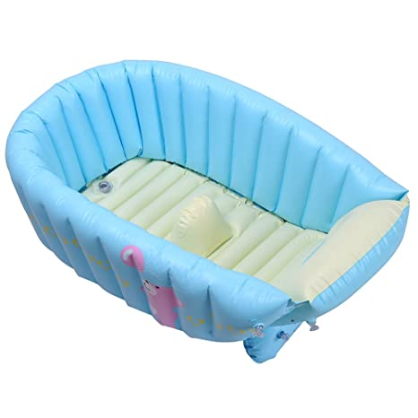 DINGANG bebé Infant Bañera hinchable para viajes, color crema Tiny ...