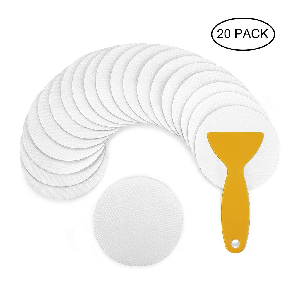 Click Image to Open expanded View Accmor 20PCS Safety Shower Treads, Non-Slip Bath Treads Bathtub Stickers with Scraper for Bath Tub, Pools, Stairs or Other Slippery Spots (Clear/Large 4