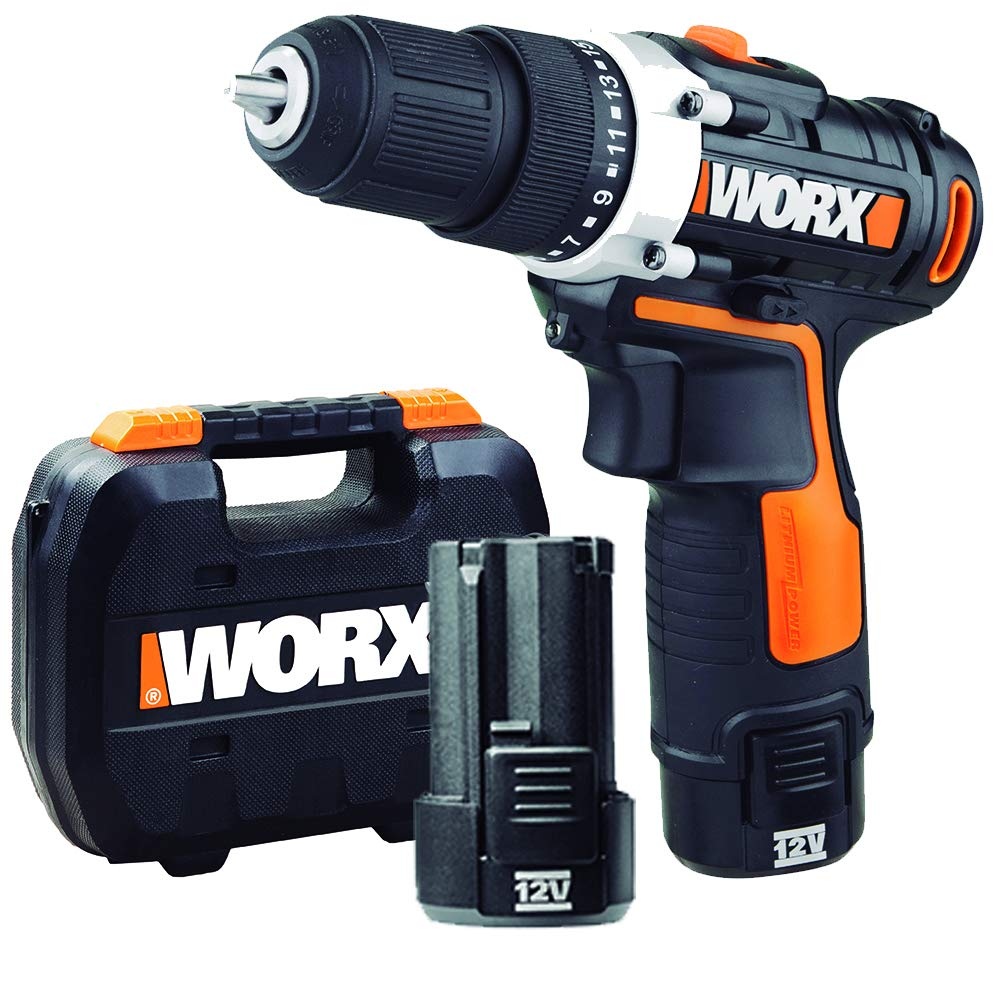 WORX WX128.3 Taladro Atornillador 12V 2Ah 2bat, 12 W, 12 V