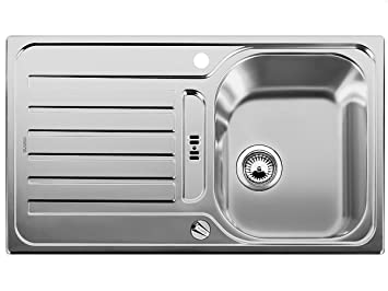 Waschbecken küche edelstahl  BLANCO LANTOS 45 S Spüle Edelstahl Bürstfinish m.AF.: Amazon.de ...