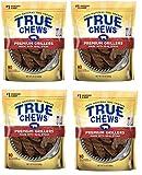 True Chews Dog Treats Premium Grillers Steak Jerky 20oz Made in USA (4 Packs)