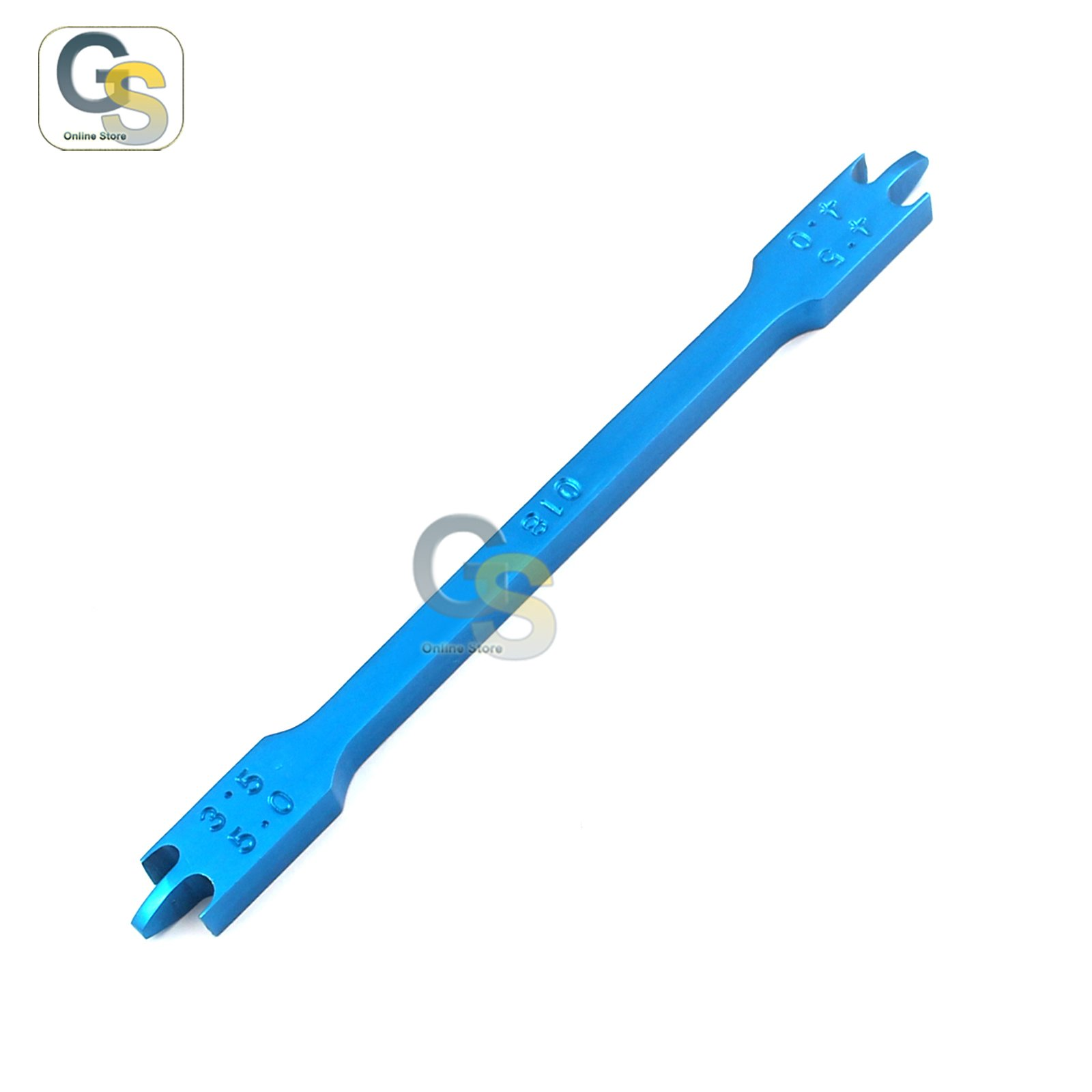 G.S BRACKET HEIGHT GAUGE BLUE COLOR 3.5MM-5MM018 ORTHODONTIC INSTRUMENTS BEST QUALITY