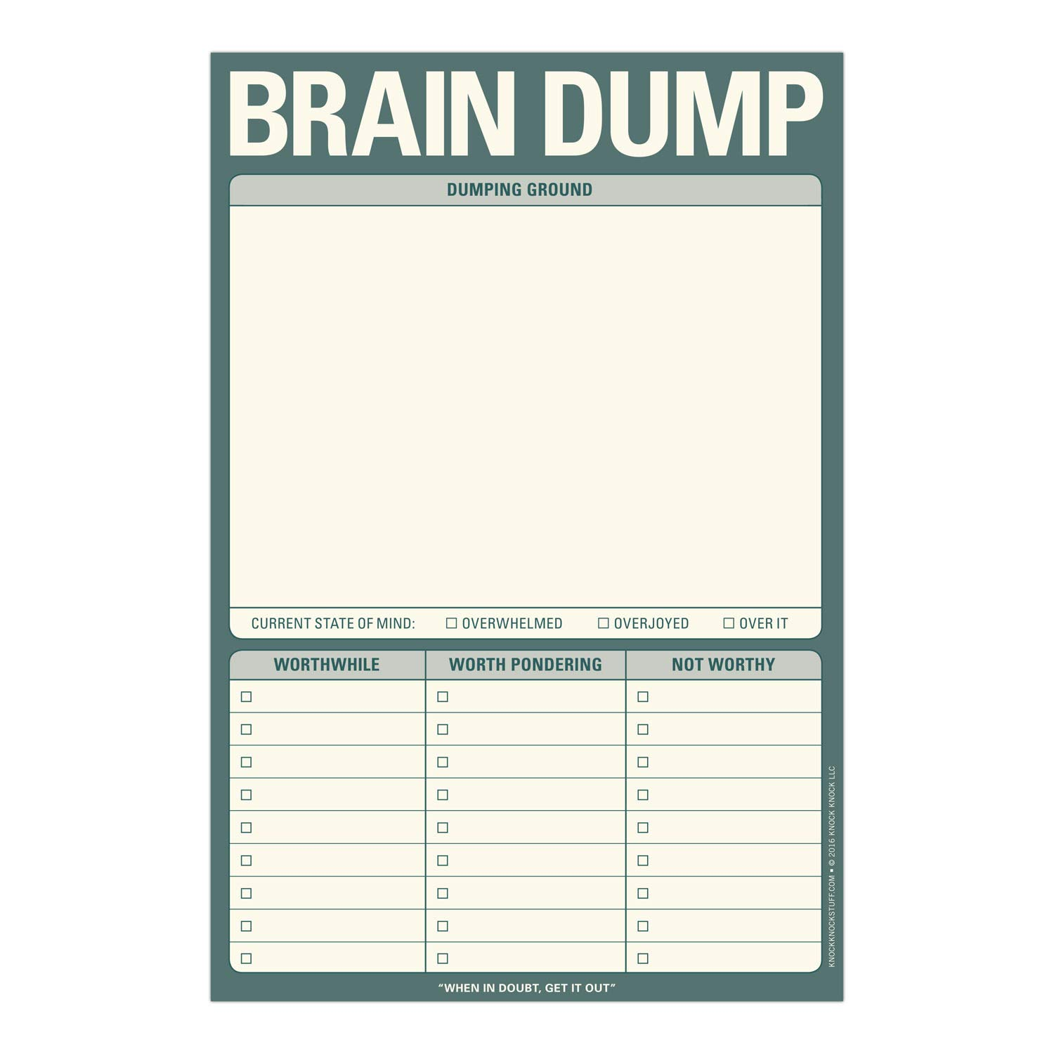Best Brain Dump Template