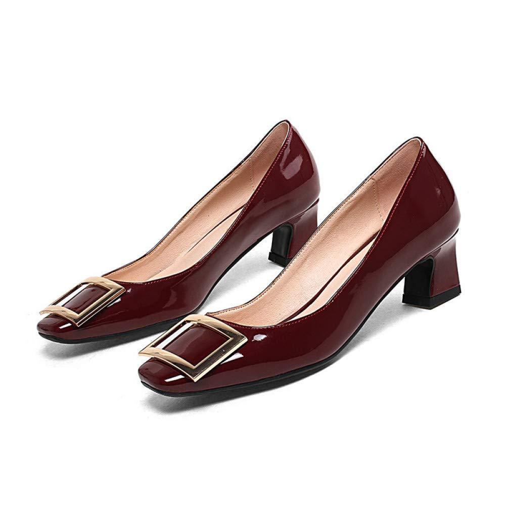 Wine rouge VIVIOO Talons carrés Printemps été Chaussures de décoration en métal Peu Profonde Fashion Party Chaussures de soirée Chaussures Femme Noir
