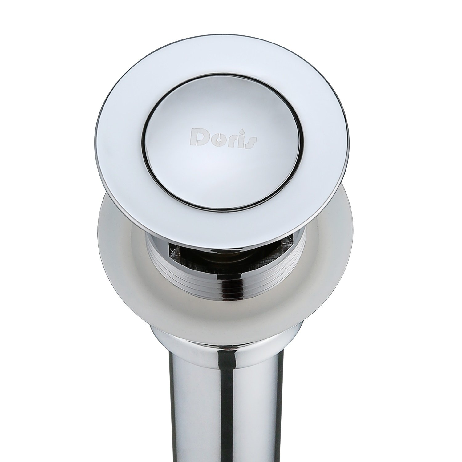 Bathroom Faucet Sink Drain Assembly - Doris D001 Luxury Pop Up Drain Stopper for Bathroom Sink with Overflow,Chrome