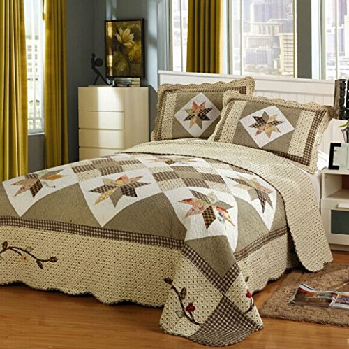 quilted queen comforter set - 9