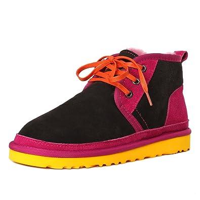 Women's Sheepskin Tie Ankle Snow Boot R8821