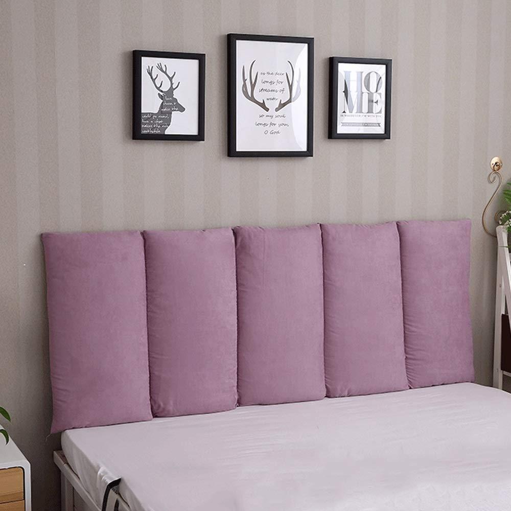 Color : Beige, Size : 100 x 60cm Cuscini Cuscini del Letto Diretto Contro Il Muro Anti-collisione Borsa Morbida Doppio Letto Cuscini della Testa Cuscino Lavabile in Tessuto