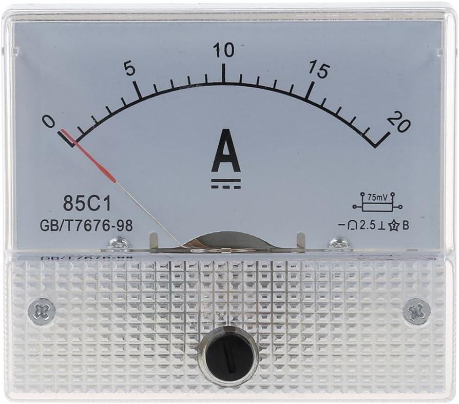 Nuovo 20A analogico Ampere Pannello di Meter Corrente Amp TOOGOO R