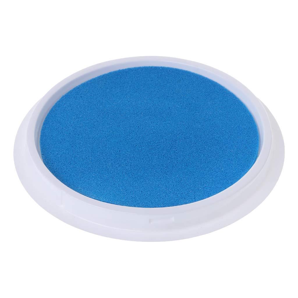 Guoyy Tampon Encreur B/éb/é Empreinte de main Empreinte Peinture Color/é Dempreintes Digitales Souvenirs Nouveau-n/é Cadeaux De M/émoire Collection Lavable Pad bleu ciel