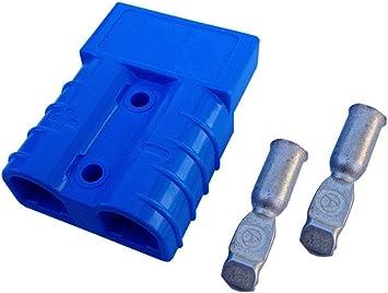 Batterie Stecker 50a 16 Mm2 Blau Steckverbinder Für Gabelstapler Kabel Auto