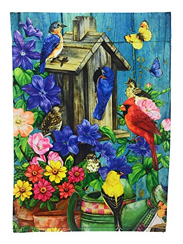 Summer Seasonal Songbird Garden Flag Double Sided Polyester