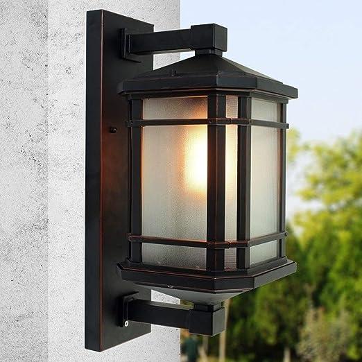 AXWT Lámpara de Pared Exterior Impermeable Puerta de la Villa de jardín Patio Balcón Pared de