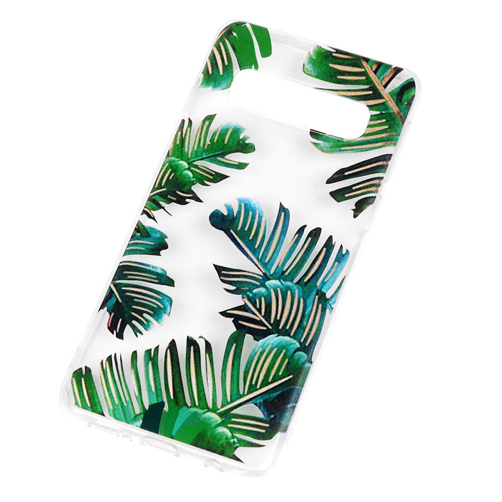 Galaxy S10 Case, Cover Ultra Slim HD Clear & Full TPU Soft Frame Hybrid Shockproof Bumper Drop Pretective Skin Shell for Galaxy S10, Banana Leaf by SUPWALL (Image #4)