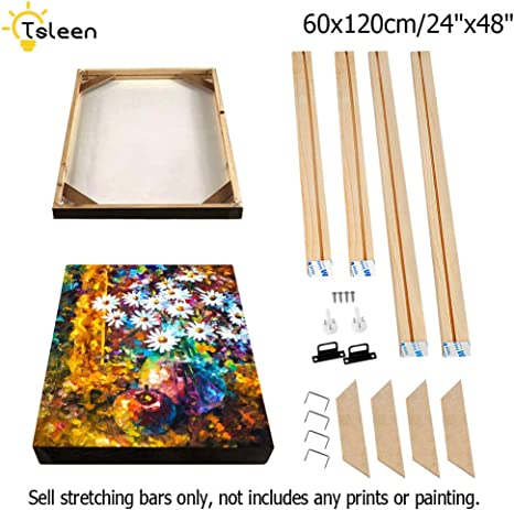 Customized Wooden Art Frames for Paintings /& Canvases Easy to Build Canvas Stretching System DIY Solid Wood Canvas Frame Kit (16 x24) for Oil Painting /& Wall Art Framed Picture Accessories