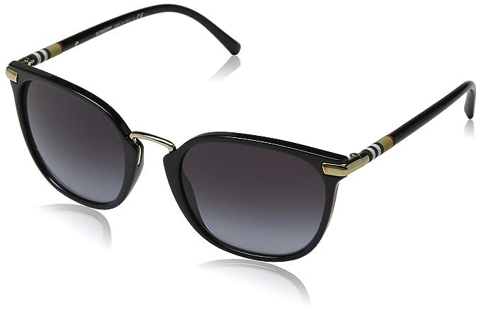 Amazon.com: Burberry be4262 30018 G cuadrado negro anteojos ...
