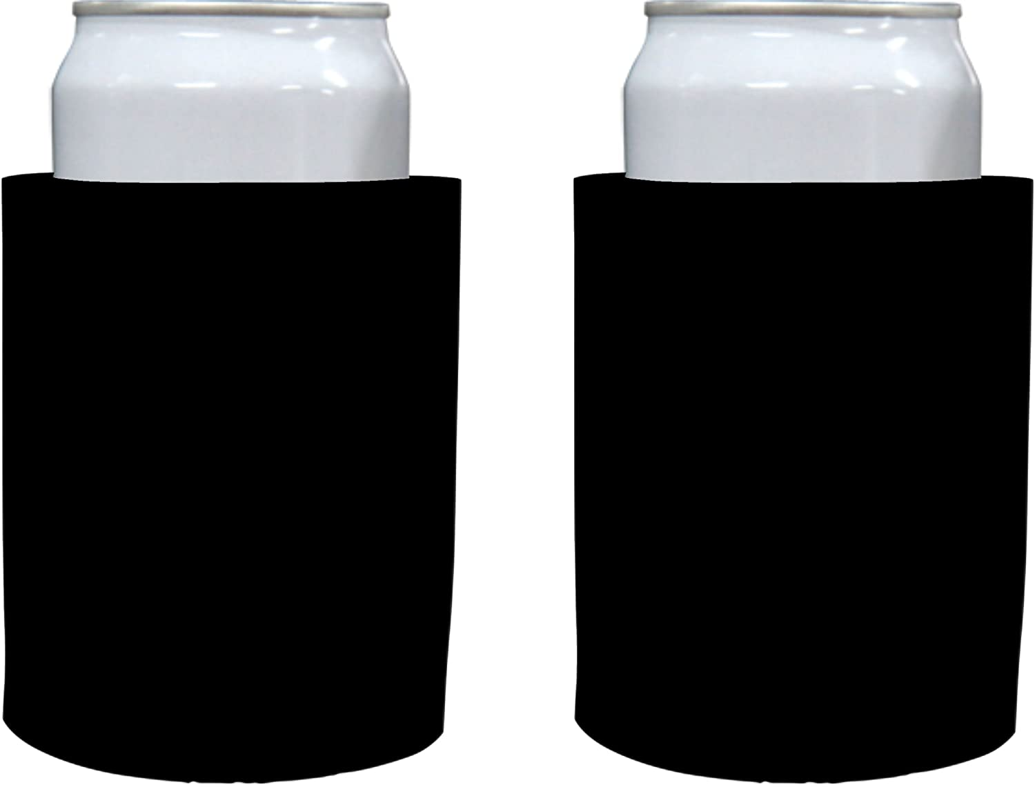 "Blank Thick Foam ""Old School"" Style Can Cooler(s) (2, Black)"