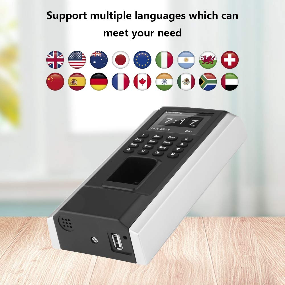Dispositivo de Control Acceso con Huellas Dactilares, Tiempo de Asistencia del Empleado con F8 Teclado RFID Acceso Biométrico, Controlador de Acceso a ...