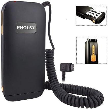 Pholsy Externe Blitz Batteriepack Batteriehalter Kamera