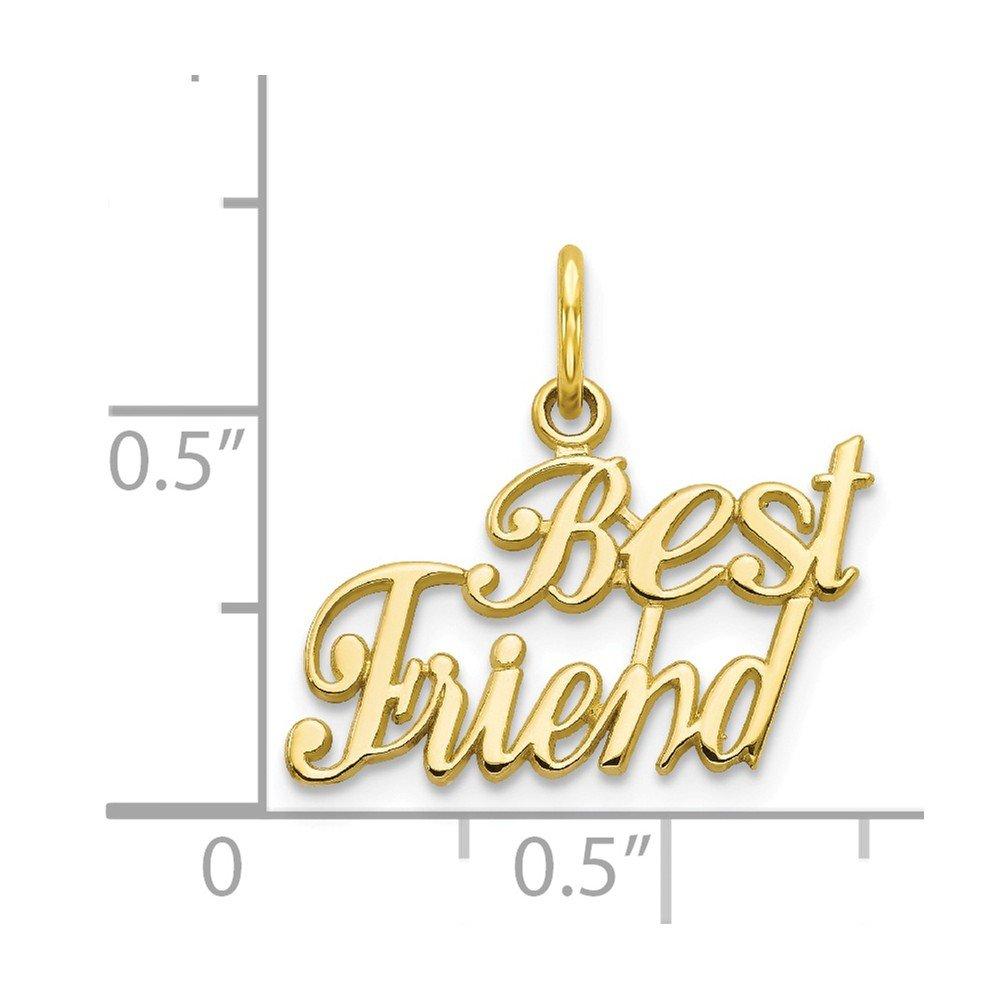 10k Yellow Gold BEST FRIEND CHARM