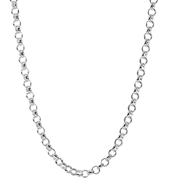 various lengths Heavy Belcher Neck Chain in Stainless Steel