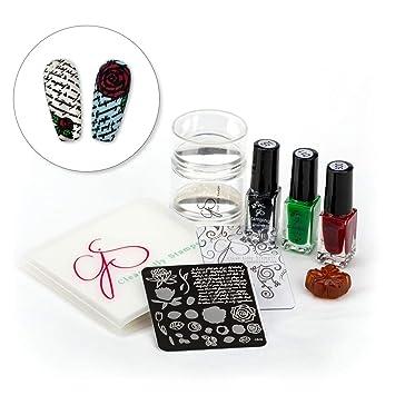 2pcs Silicone Nail Art Polish Transfer Stamper With Cap Large Scraper Set Manicure Tool V Nails Art & Tools