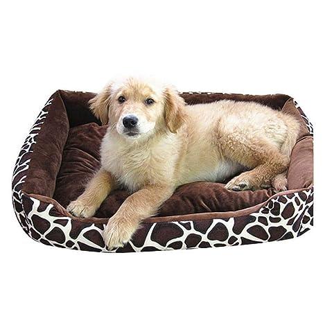 Wuwenw Casa De La Cama del Perro Casero para Los Perros Pequeños Grandes Material Suave Perros De La Jerarquía Durable Gatos Cojín Que Calienta La Moda para ...