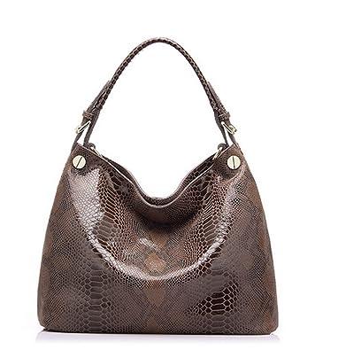 CLELO Genuine Leather Handbag for Women Python Embossed Shoulder Bag Soft   Handbags  Amazon.com 13ecf7f28cdeb