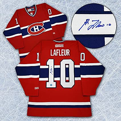 360792852 Image Unavailable. Image not available for. Color  Guy LaFleur Montreal  Canadiens Autographed Retro CCM Hockey Jersey ...