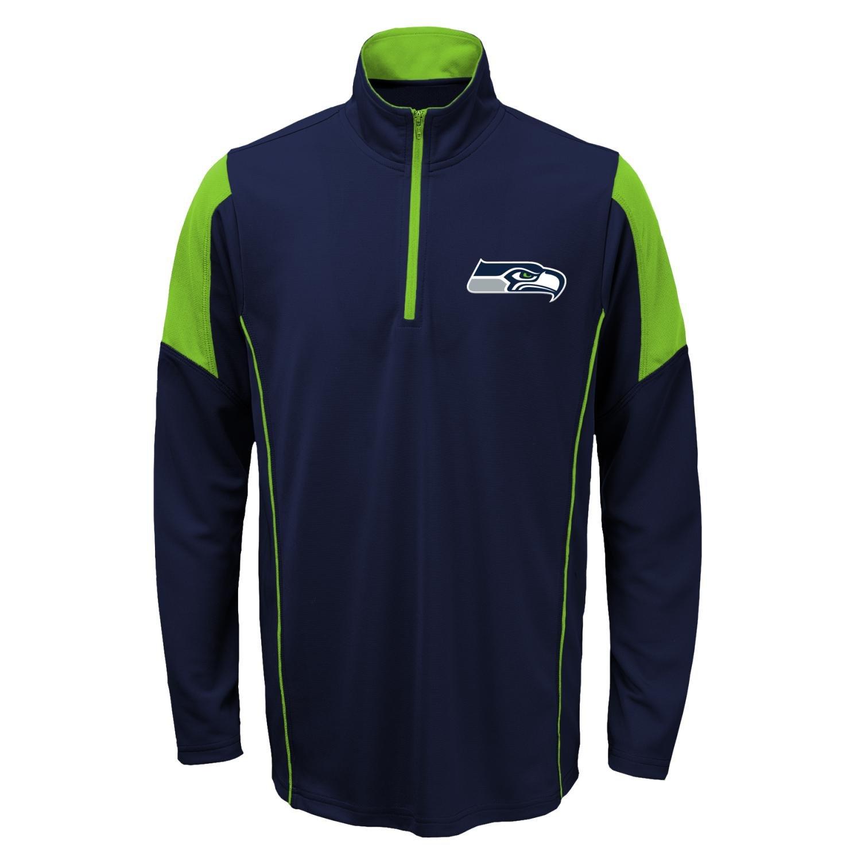 シアトルシーホークス ユースサイズ プルオーバー 長袖シャツ NFL 軽量 1/4ジップアップ X-Large (18-20)  B01N5CI0XU