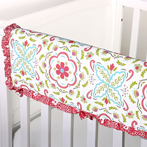 Price comparison product image Mila Floral Crib Rail Guard by The Peanut Shell