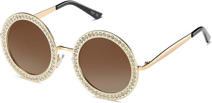 Occhiali da sole Occhiali da sole da donna grande elegante Lilla Argento Nero Marrone Nuovo 17