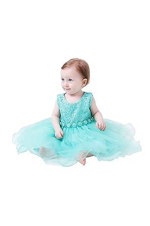 ec58b498257 Aodaya Baby Girls Dress Sleeveless Newborn Toddler Flower Girl Dresses for  Birthday Christening Baptism Wedding Party