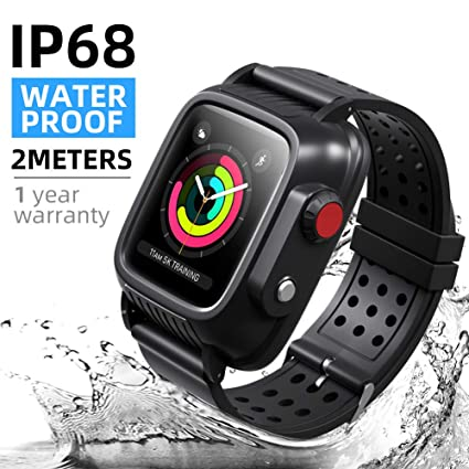 watch 7b354 a94d5 Waterproof Apple Watch Case 42mm Series 3 with 3 Watch Bands, Meritcase  iWatch Case IP 68 Waterproof Shockproof Dustproof Cover with Built-in  Screen ...