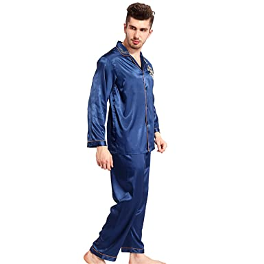 Dormery Silk Pajamas Women Long Sleeve Solid Satin Pyjamas Men Love Sleepwear Womans Lounge Couples Pajama