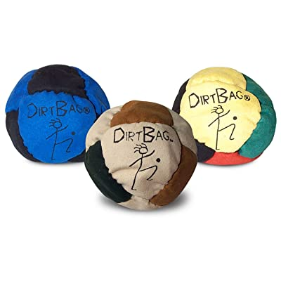Dirtbag Footbag Classic Sand-Filled Hacky Sack Three Pack - Assorted Colors: Toys & Games