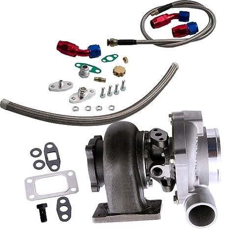 maXpeedingrods GT30 gt3037 GT3076 Turbo turbocompresor 500HP con reborde T3 + retorno de drenaje de aceite