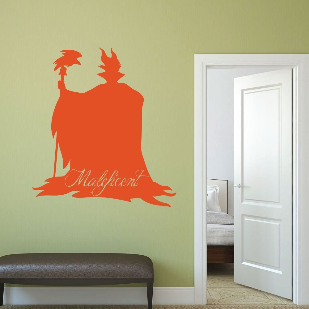 Amazon.com: Disney Villains Maleficent Vinyl Wall Decor, Halloween ...