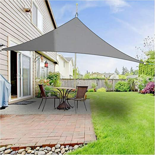 Fitness Sports - Parasol Triangular para Patio, Patio, terraza, pérgola al Aire Libre, Parasol con Bloqueo UV: Amazon.es: Jardín
