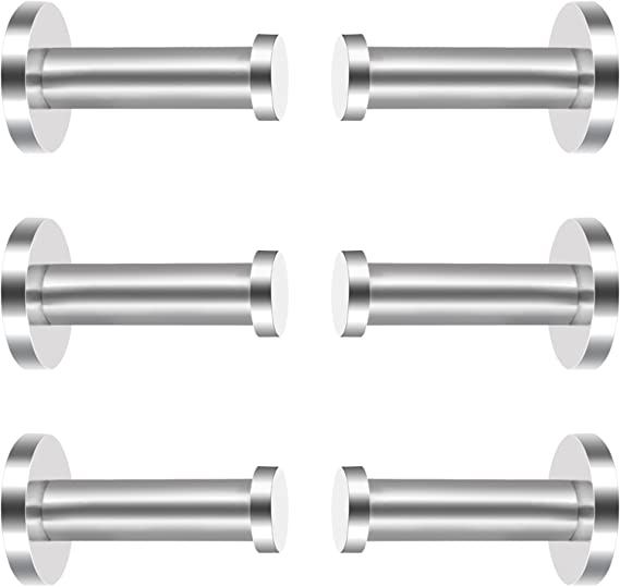Eboot 6 Pieces Stainless Steel Wall Mount Robe Hook Coat Hook Towel Wall Hook Brushed Nickel 2 Inch Silver Office Products Amazon Com