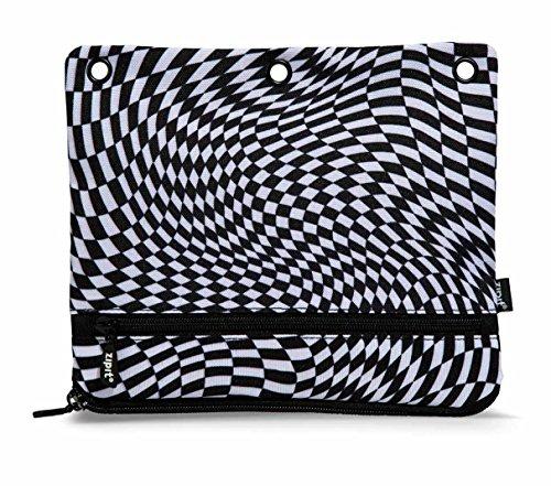 - ZIPIT Illusions 3-Ring Pencil Case, Squares