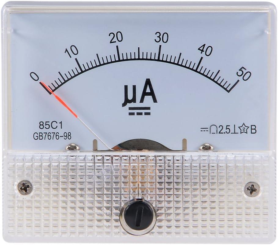 sourcing map 1 St/ück Amperemeter Ampere Pr/üfger/ät 85C1 Analog Stromanzeiger Meter DC 50uA DE