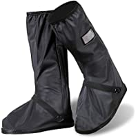 Protector de Zapatos ,Impermeable Cubiertas de Zapatos Lluvia nieve cubrebotas para hombre o mujer - Exteriores bicicleta motocicleta cubrebotas - Viaje Reusable con cierre cubre zapatos lluvia traje/equipo (1 par)(XL)