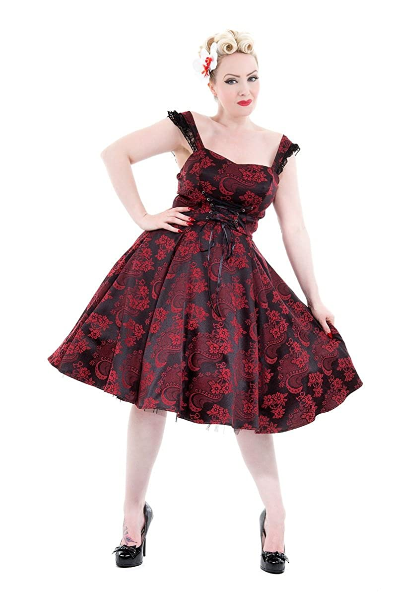Saloon Girl Costume | Victorian Burlesque Dresses & History Hearts & Roses Byzantine Dress in Red (Shipped From US and US Sizes) $64.88 AT vintagedancer.com