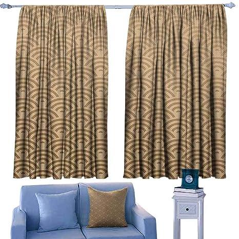 Amazon Com Paradisedecor Beige Living Room Curtains Oriental Wave