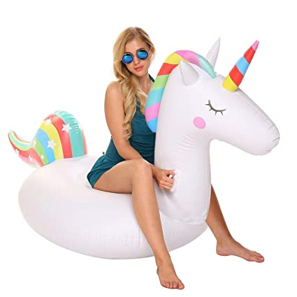 Amazon.com: YAze Inflable Unicornio Piscina Flotador Animal ...
